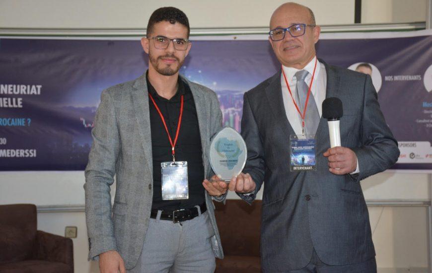 Oujda : Hamza ZRAIMAK honoré par la Fondation Trophée de l'Africanité