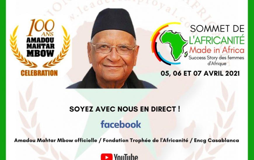 Maroc : La Fondation Trophée de l'Africanité célébre, sous le Haut Patronage de Sa Majesté, les 100 ans du Professeur Amadou Mahtar MBow